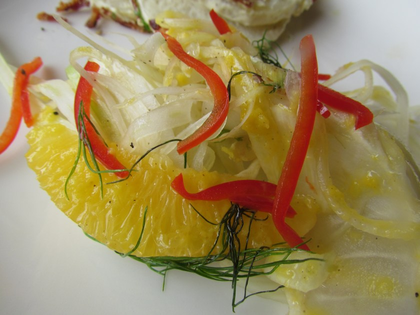 Orange, fennel & mango vinagrete salad
