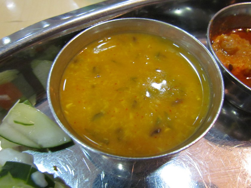 Dal served with Baati