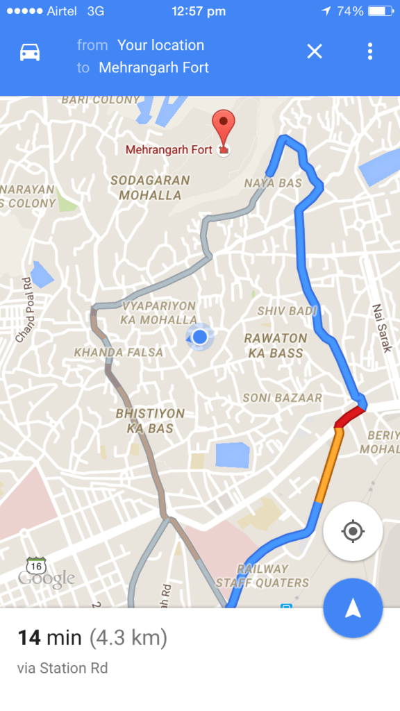 google map of Shaheen hotel