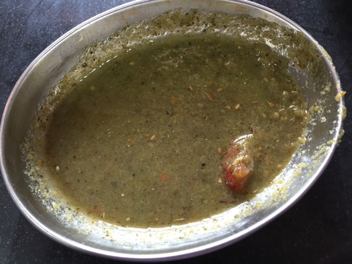 excellent pudina chutney served with kababs