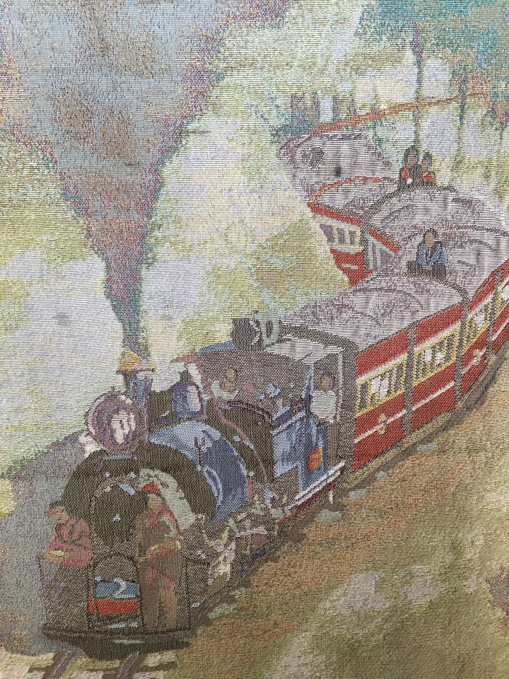 beautiful work of art - local, depicting Darjeeling Toy train