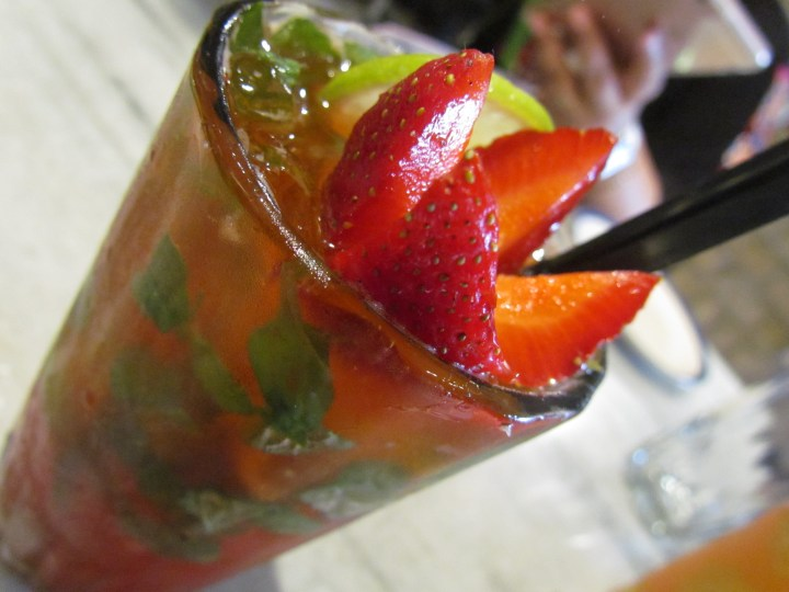 Strawberry based mocktail