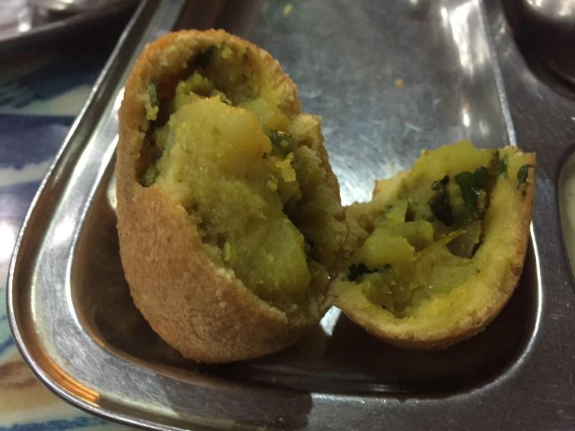 peep inside Batata Vada