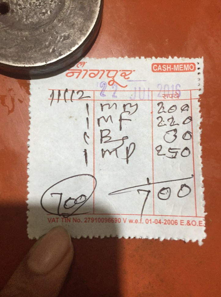 bill -proof of payment