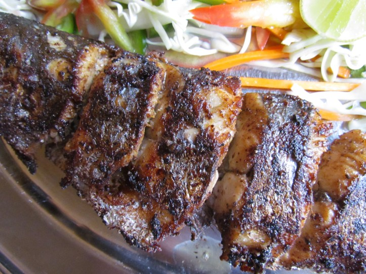 grilled king fish