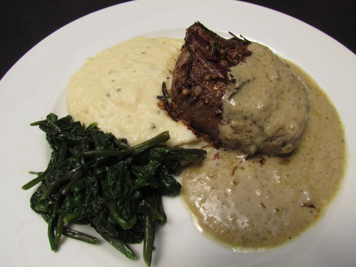fillet of tenderloin brandy peppercorn sauce