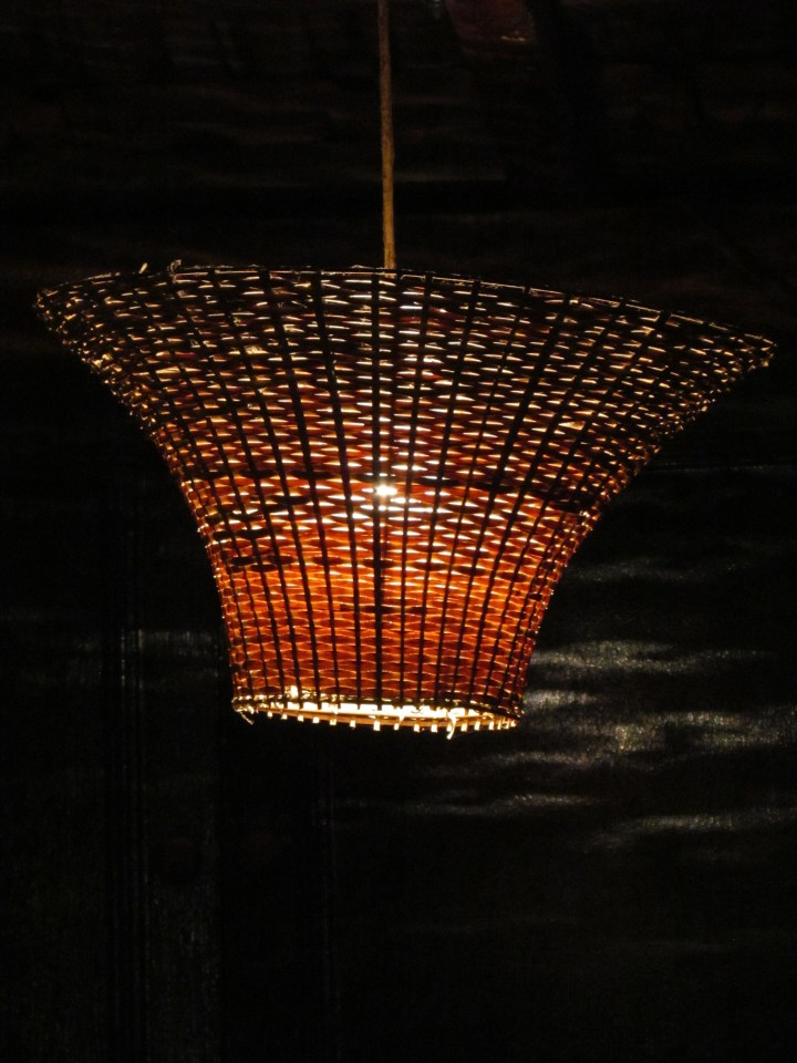 lamp shade inside the restaurant
