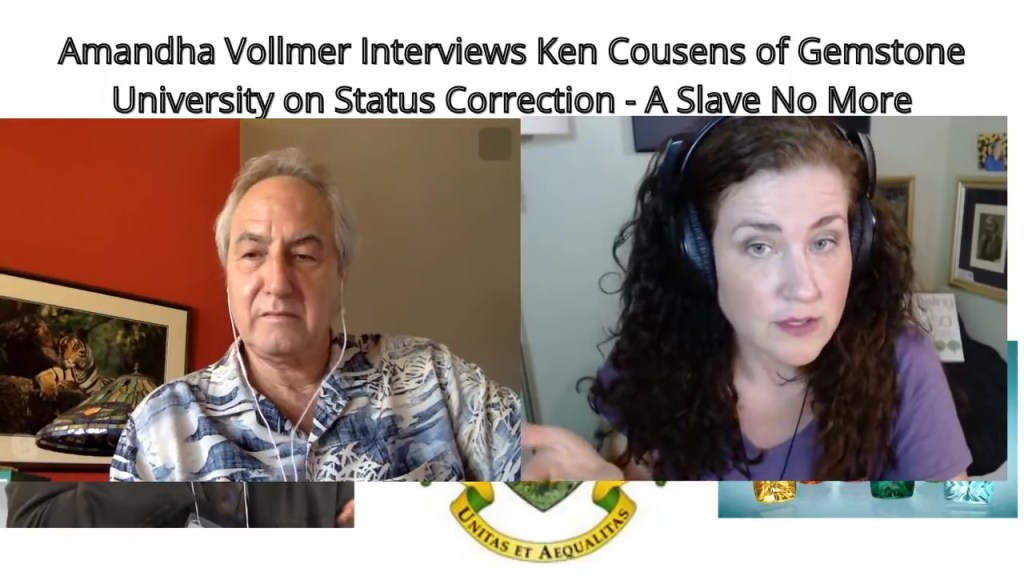 Status Correction Process with Ken Cousens Founder of Gemstone University