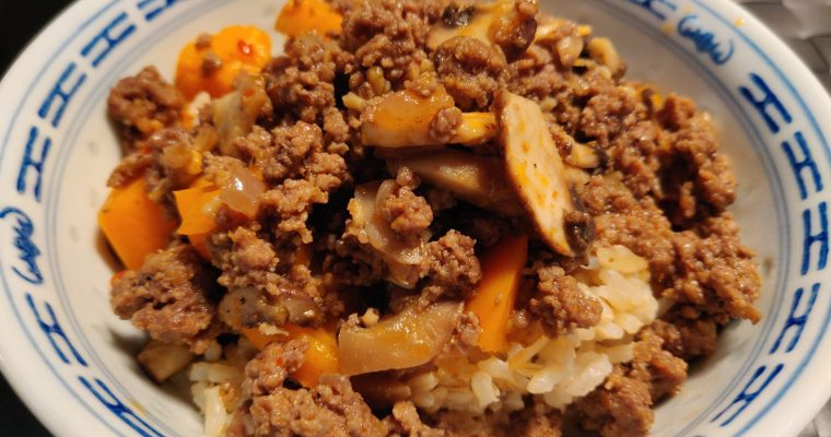 Ground beef and vegetables