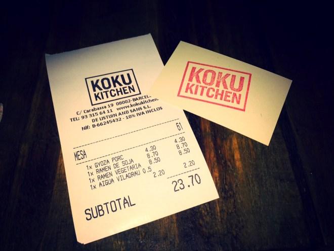 Koku Kitchen Fideos Ramen