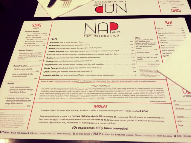 N.A.P. Neapolitan Authentic Pizza Barcelona