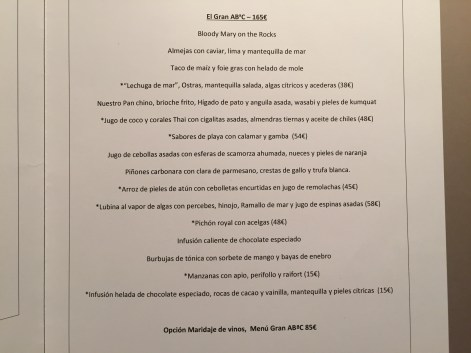 carta y menu restaurante abac 2015 2016