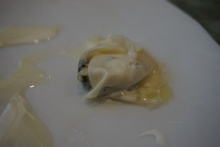 disfrutar restaurante Anguila al la crema con caviar