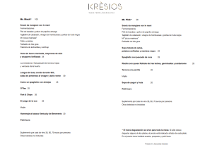 menu degustacion kresios restaurante