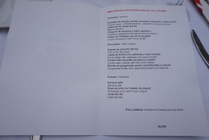 menu del restaurante pacha barcelona