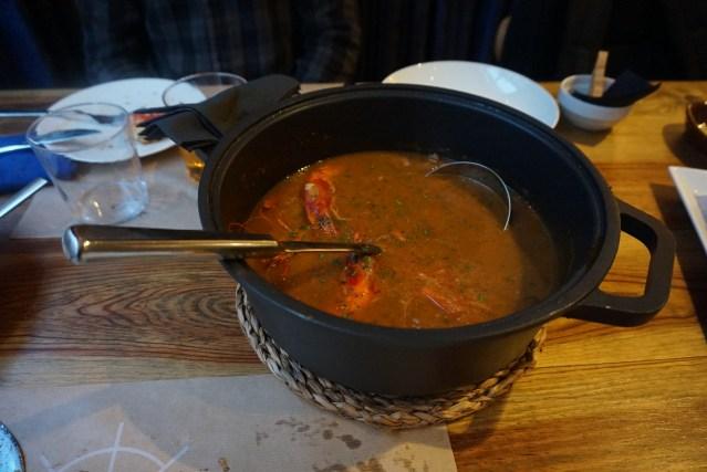 el catala restaurant Arroz Caldoso con Gambas y Sepia