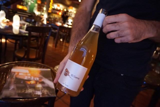 restaurante el pla El Carro 2015 El Carro 2015 Vino blanco con crianza Rafa Bernabé