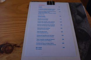 carta, platos y menu del Toc al Mar