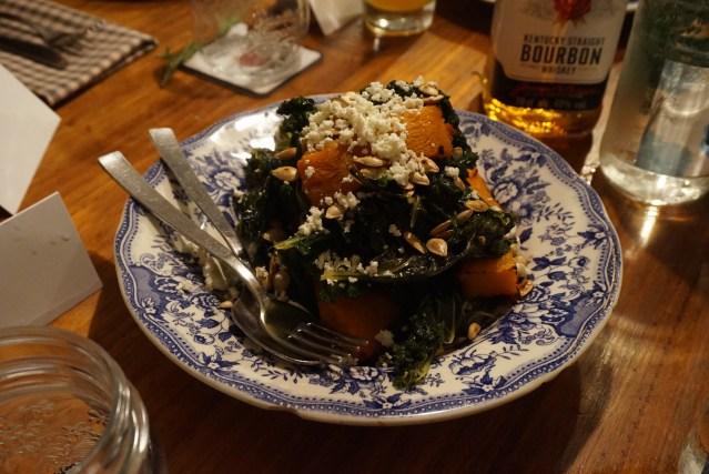 Ensalada templada con Kale en Picnic Restaurant