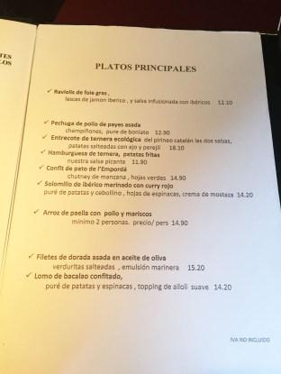La Dentelliere menu degustacion platos