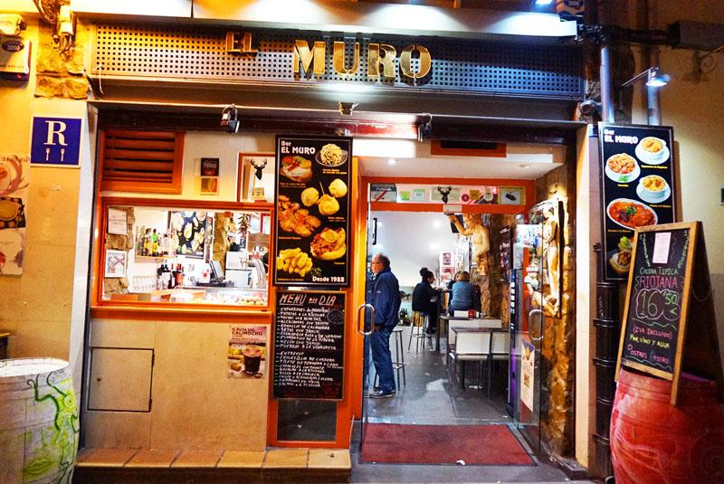 Bar el Muro en calle del laurel de Logroño