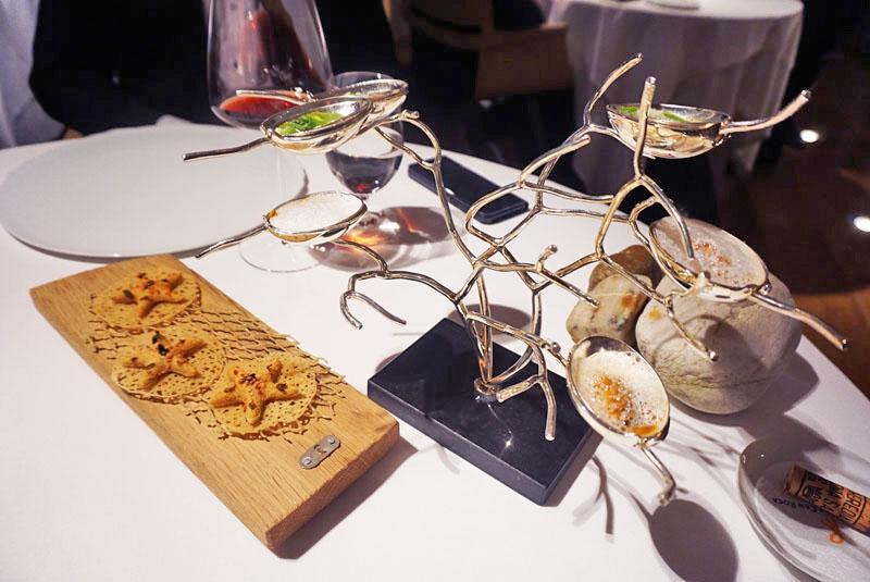 Estrella de Mar y Coral, entrantes del Menú Degustación 2018 de El Celler de Can Roca.