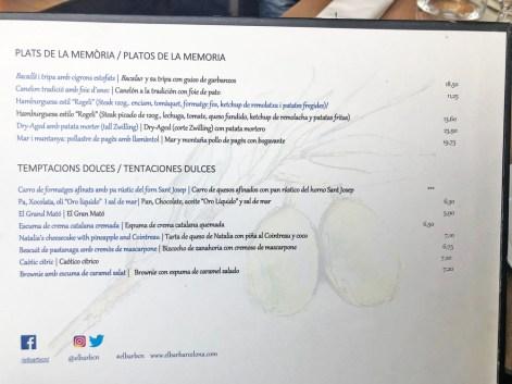 menu el bar barcelona