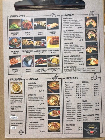 menu izakaya ramen house