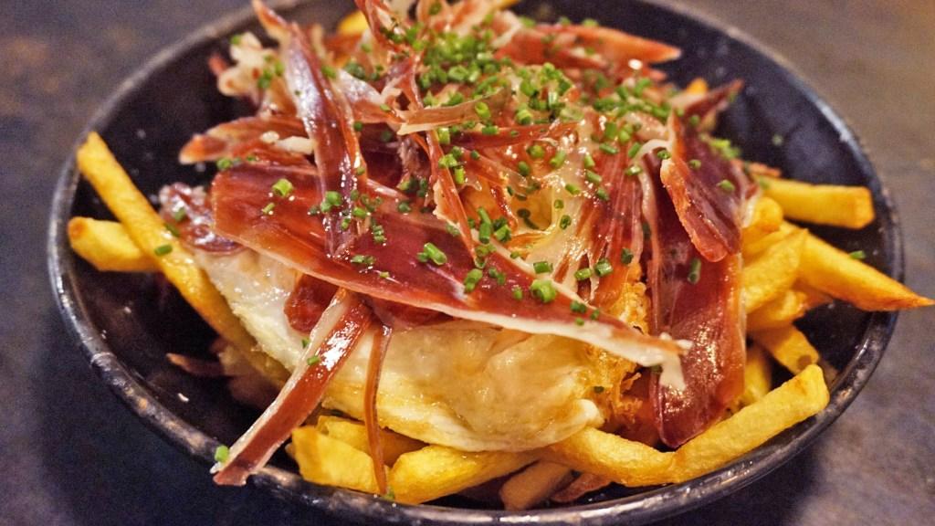 robadora restaurante raval Huevos estrellados con jamón