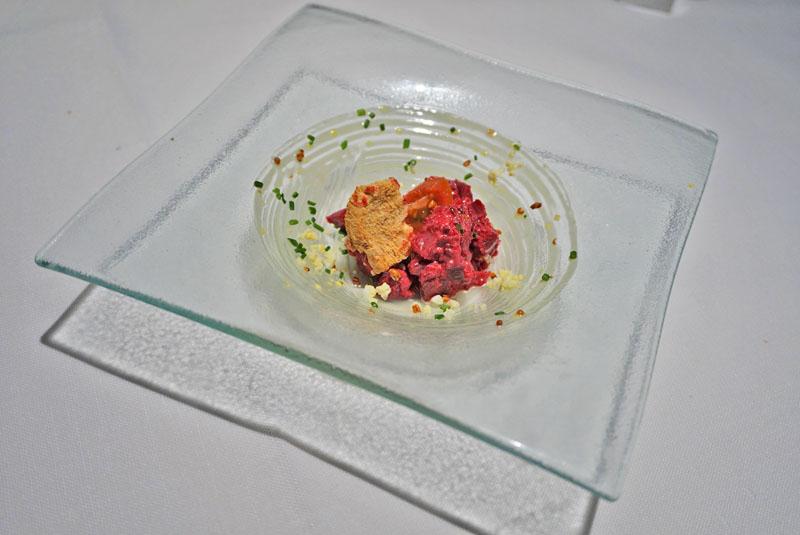 Windsor Restaurant tartar de remolacha