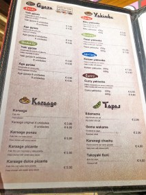 menu kuraya madrid