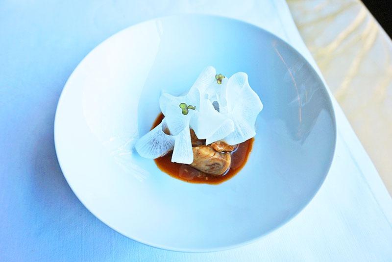 restaurante les cols menú gastronómico