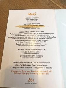 menu calçotada en barcelona