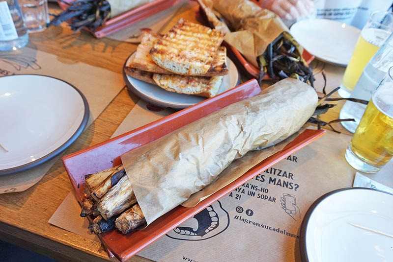 menu calçotada en barcelona mussol restaurant