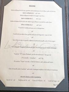 menu la borda del ceretà