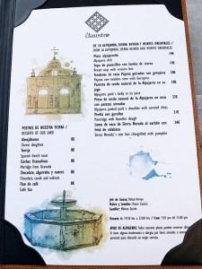 menu degustación el claustro restaurante granada