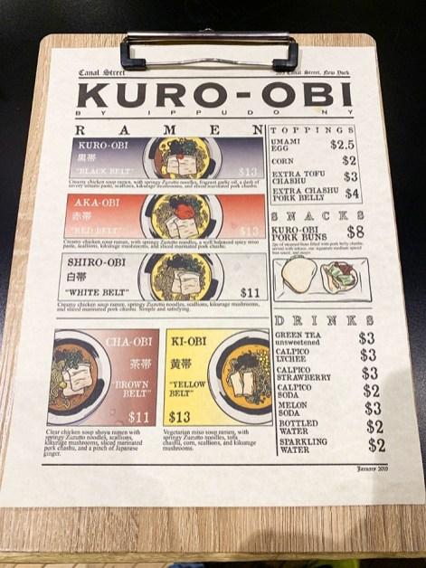 menu kuro obi ippudo new york