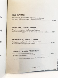 menú degustación restaurante arriaga