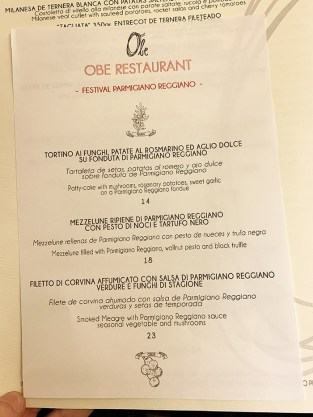 menu restaurante obe