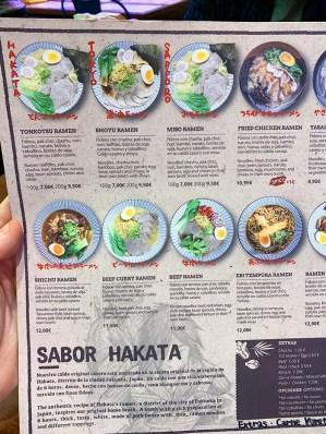 menu ramen shifu barcelona