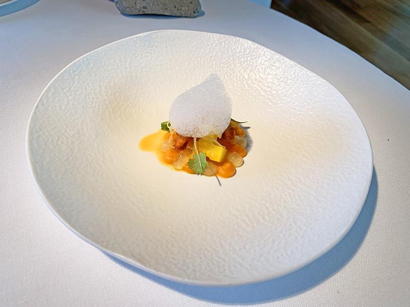 el celler de can roca menu platos 2020 Ensalada Naranja.