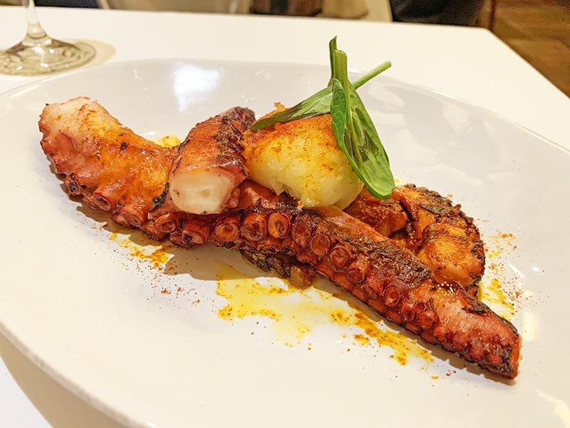 restaurante L'Olivé pulpo parmentier