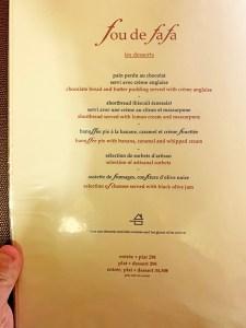 menu fou de fafa aviñón
