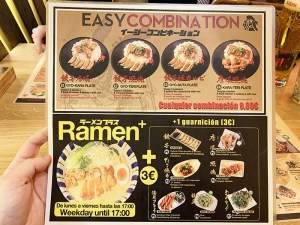 Menu Takumi Ramen