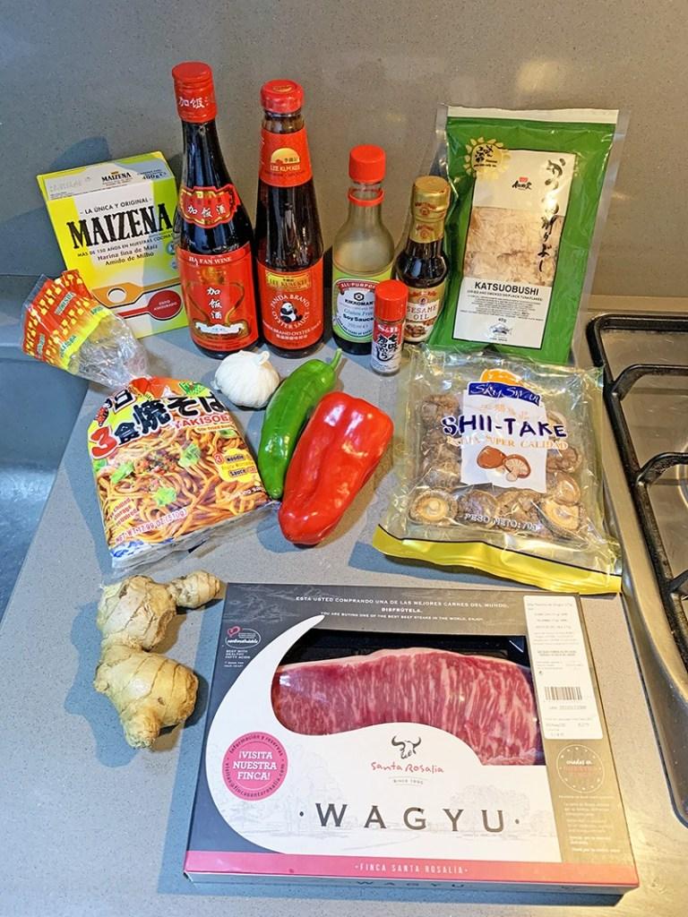 ingredientes wagyu yakisoba