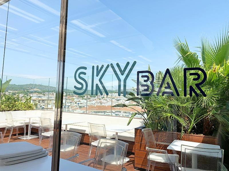 restaurante skybar hotel mim sitges