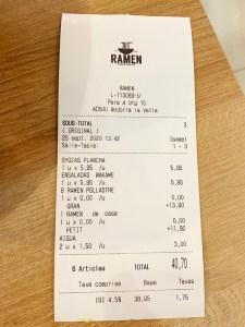 menu carta ramen andorra