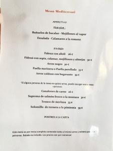 menu arroces restaurant mediterrani
