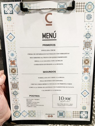 menu cibum restaurant cornellá
