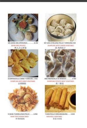 Carta de Cuina Xinesa Tradicional